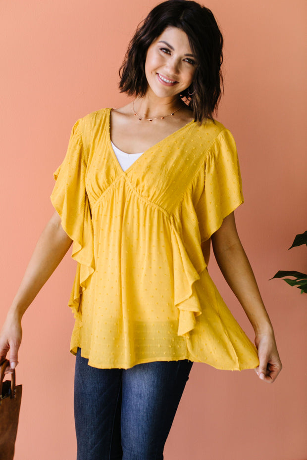 Fly Away Home Blouse In Honey