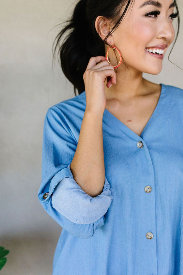 Light Denim Button-Down