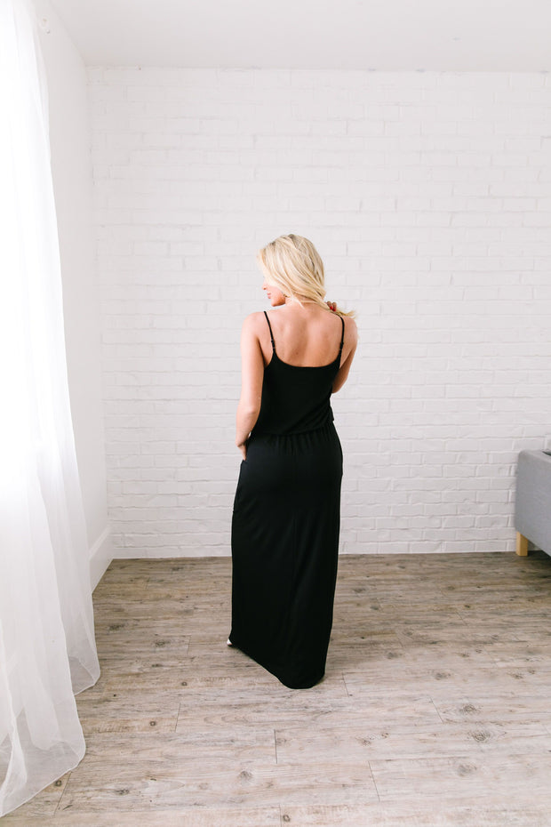 Play The Day Away Maxi In Black - White Raven Boutique