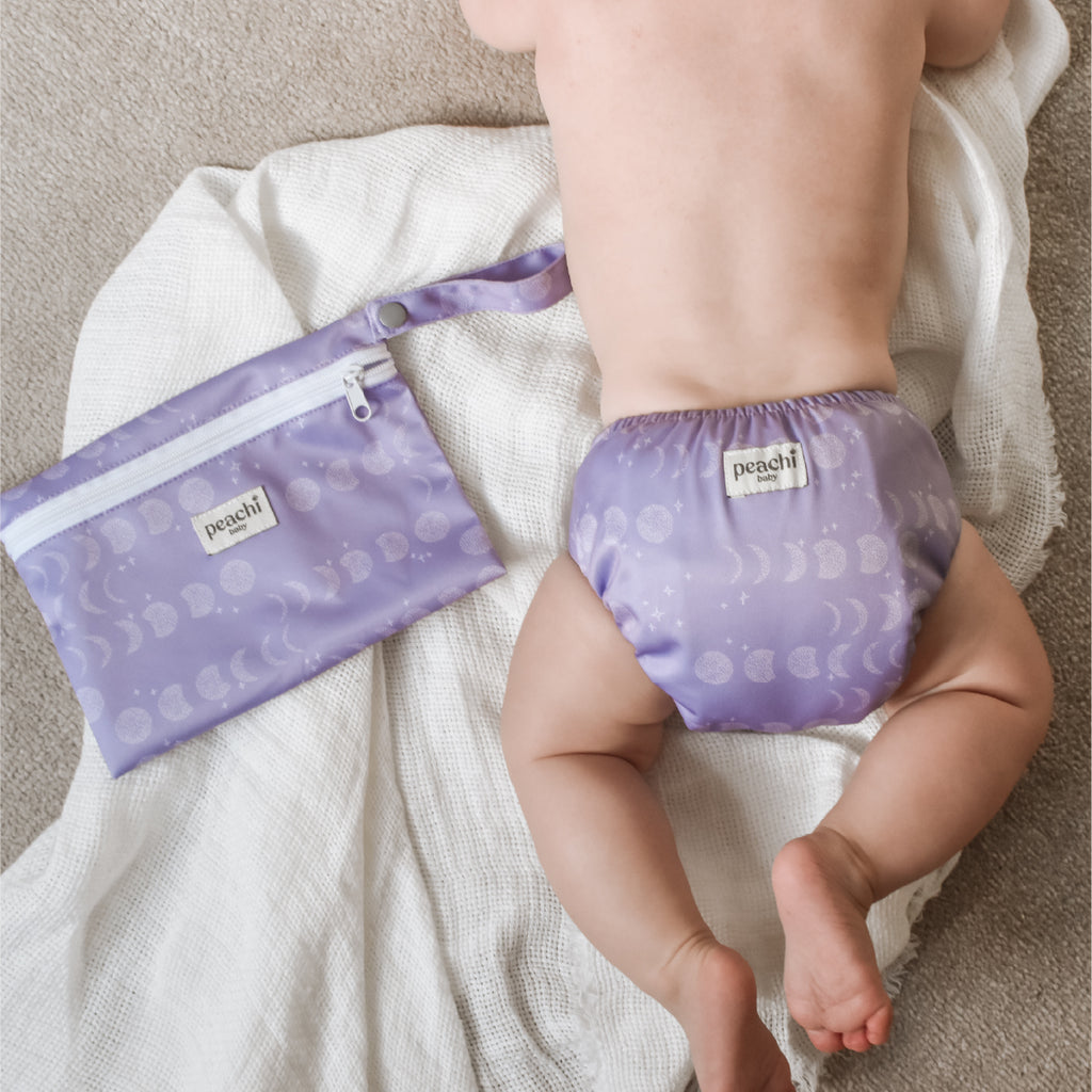 Accessories Luna Lavender Reusable Nappy Bag