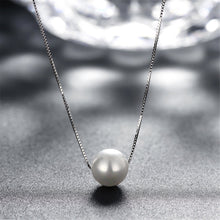 Load image into Gallery viewer, Freshwater Pearl Solitaire Pendant Necklace