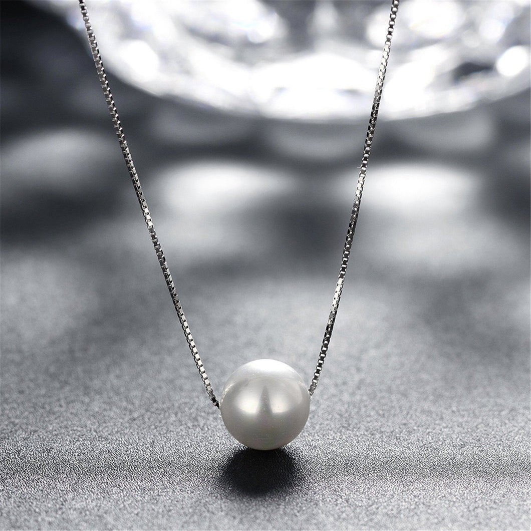 Freshwater Pearl Solitaire Pendant Necklace