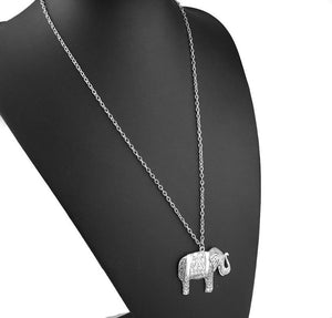 Silver Elephant Pendant Necklace