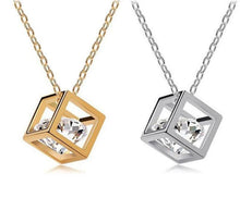 Load image into Gallery viewer, Crystal Cube Pendant Necklace