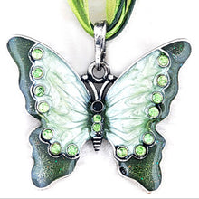 Load image into Gallery viewer, Butterfly Crystal Pendant Necklace