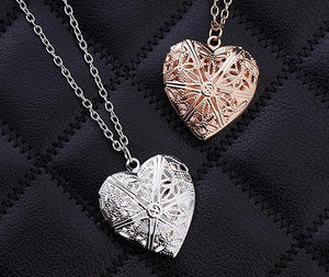Hollow Heart Pendant Necklace