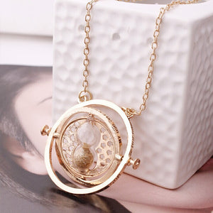 Rotating Time Turner Pendant Necklace