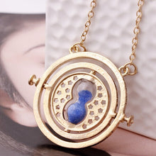 Load image into Gallery viewer, Rotating Time Turner Pendant Necklace