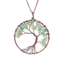 Load image into Gallery viewer, Crystal Tree Of Life Pendant Necklace