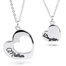Load image into Gallery viewer, Mother Daughter Heart Pendant and Necklace Set
