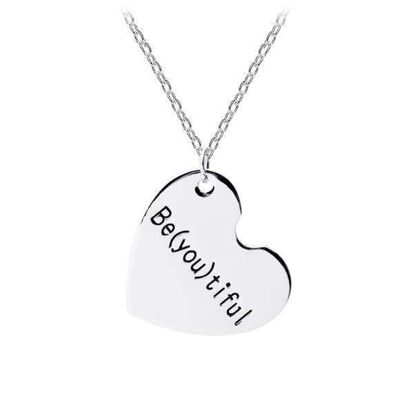 Be(you)tiful Love Silver Heart Pendant Necklace