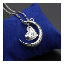 Load image into Gallery viewer, I Love You to the Moon and Back Pendant Necklace