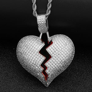 Broken Heart Pendant Necklace