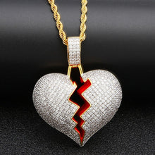 Load image into Gallery viewer, Broken Heart Pendant Necklace