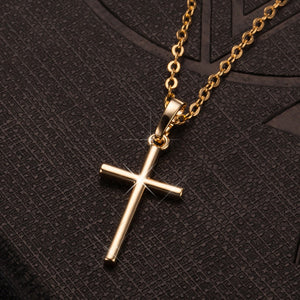 Copper Gold Plated Cross Pendant Necklace