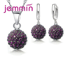 Load image into Gallery viewer, Crystal Pendant Necklace and Earrings Set