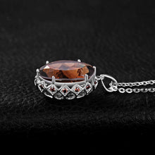Load image into Gallery viewer, 8.1ct Oval Cut Smoky Quartz and 0.4ct Cubic Zirconia Pendant (Does Not Include A Chain)