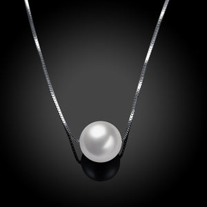 Simple Freshwater Pearl Sterling Silver Necklace