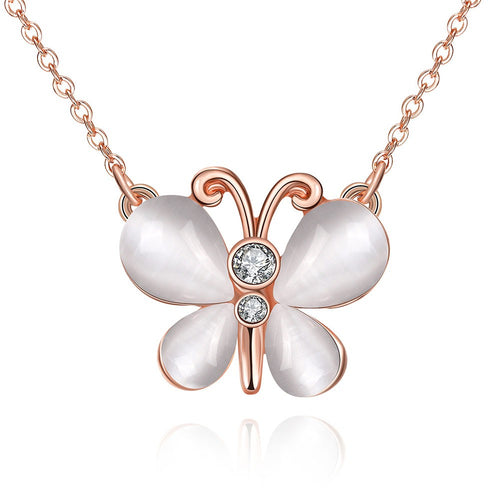 Swarovski Crystal Butterfly & 18K Gold Plated Necklace