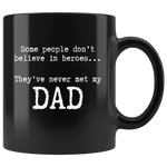 Hero Dad 11oz Black Mug