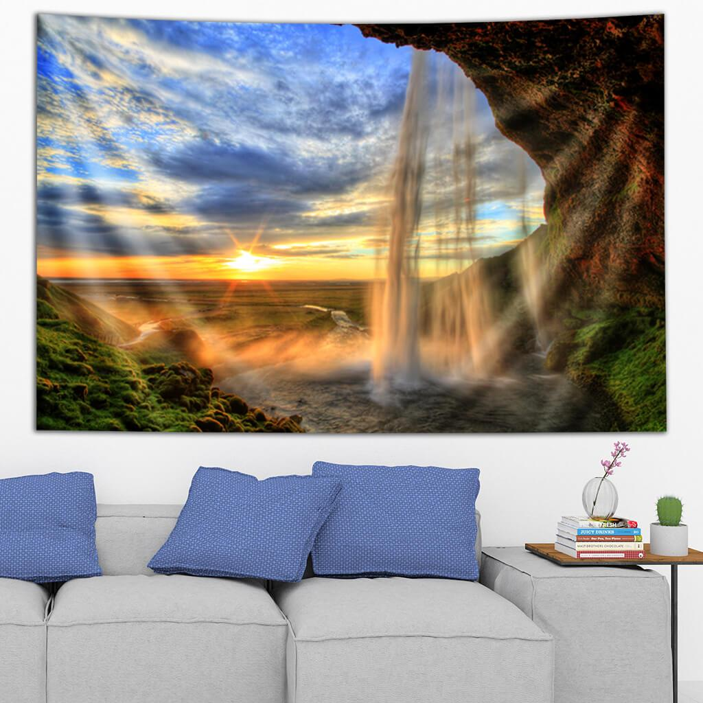 Icelandic Waterfall Tapestry