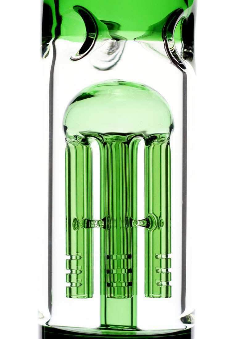"18"" volcano single 6 arms colored glass bong - One wholesale Canada"