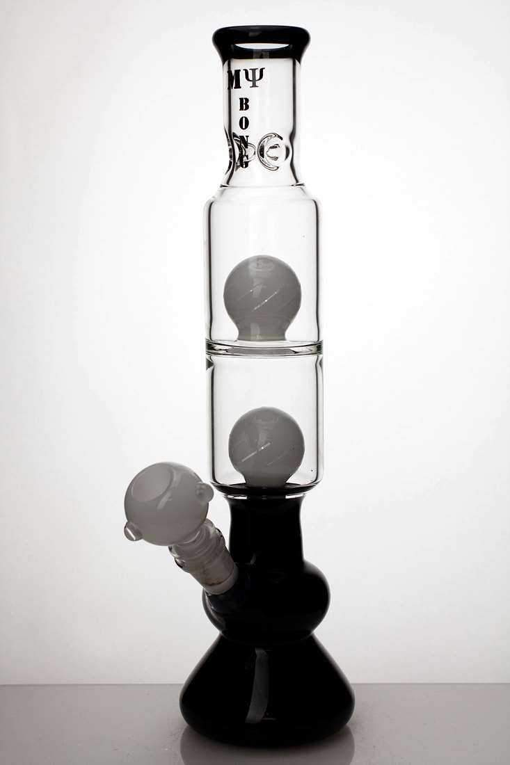 "14"" Double sphere diffuser water bongs - One wholesale Canada"