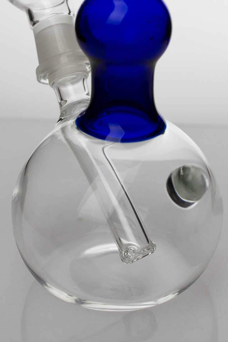 "7"" 2-in-1 Blue glass water bubbler - One wholesale Canada"