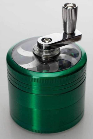 4 parts aluminium herb grinder with handle - One wholesale Canada