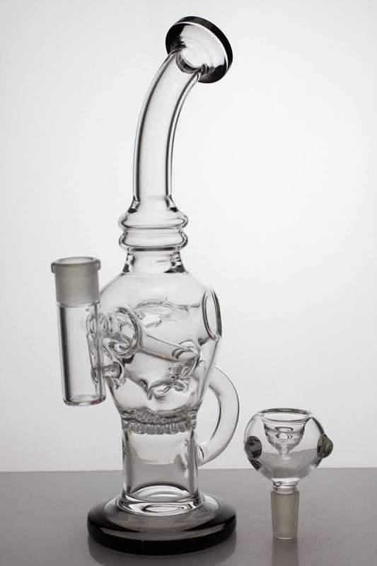 "10"" Round base recycle bubbler with honeycomb diffuser - One wholesale Canada"