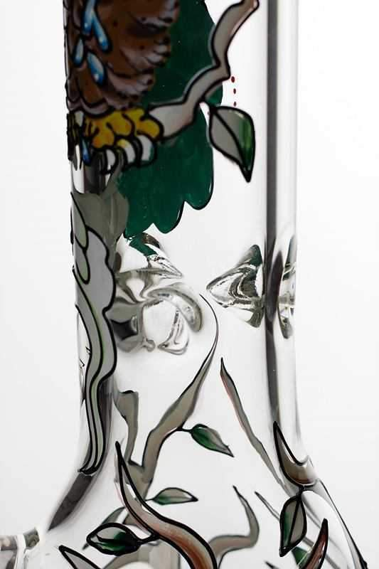 13 inches heavy 7 mm glass Artwork beaker water bong - One wholesale Canada