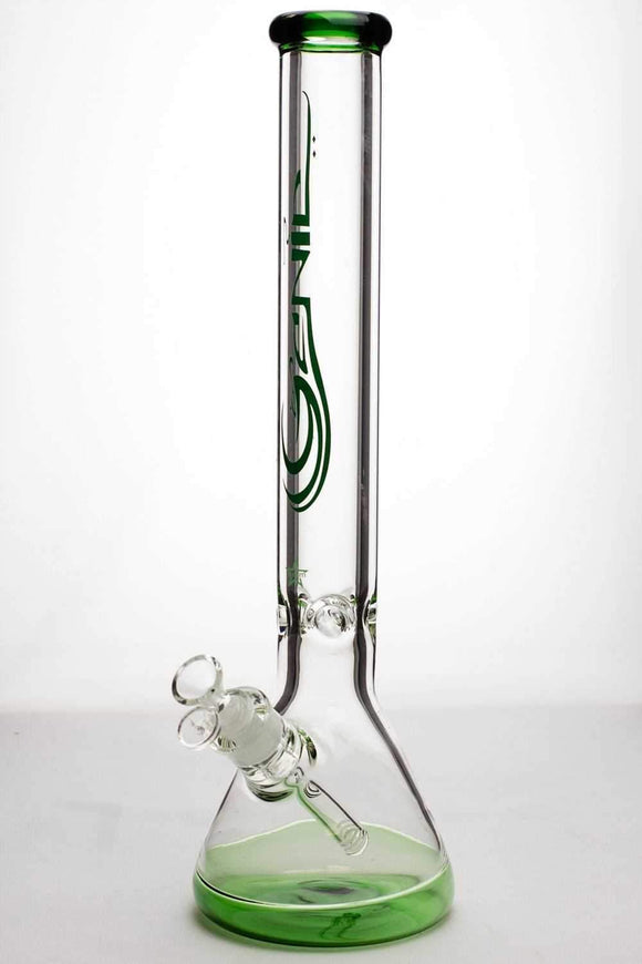 18 inches genie 9 mm beaker colored bottom water bong - One wholesale Canada
