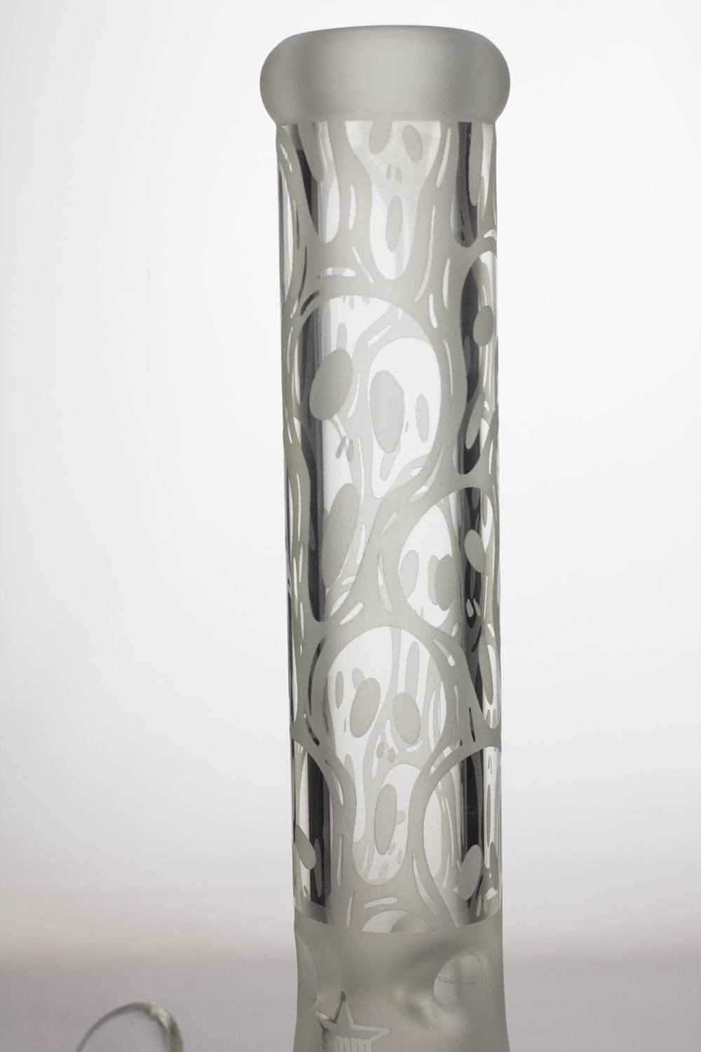 13.5 inches 9 mm thick sandblasted glass beaker water bong - One wholesale Canada