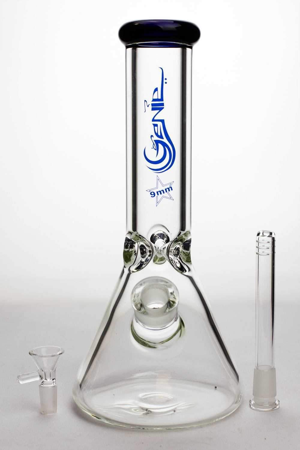 12 inches genie 9 mm Classic beaker glass water bong - One wholesale Canada