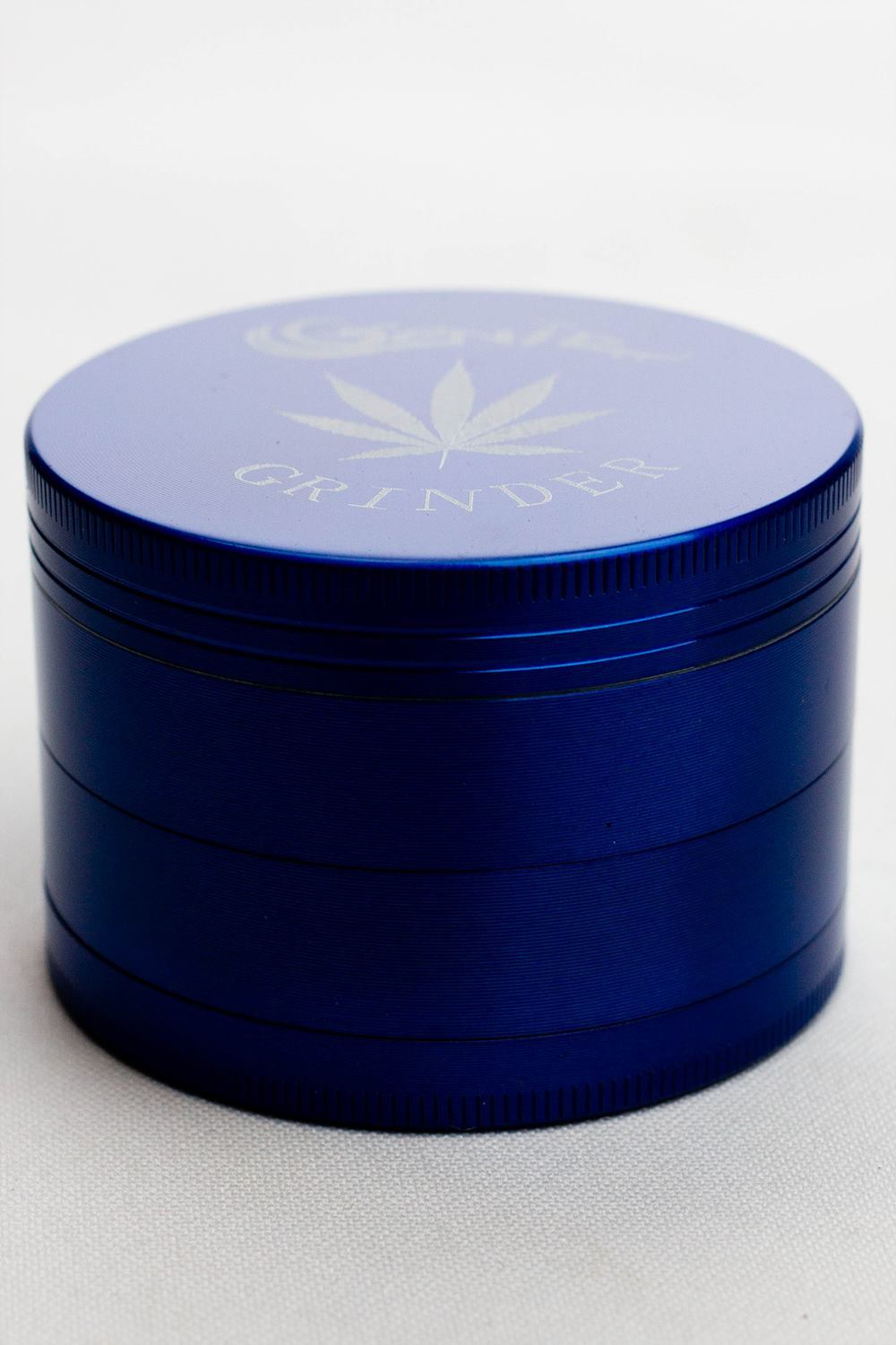4 parts genie laser etched leaf metal herb grinder - One wholesale Canada