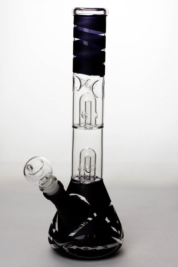 12 inches double dome percolator beaker Bong - One wholesale Canada