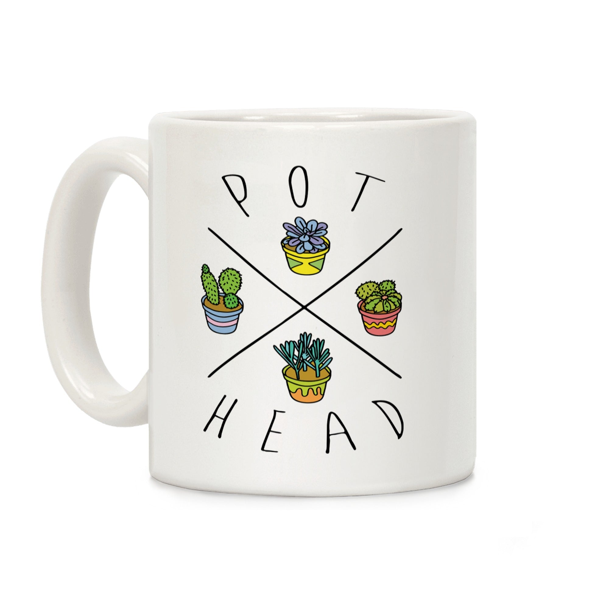 Pot Head Succulents Ceramic Coffee Mug by LookHUMAN
