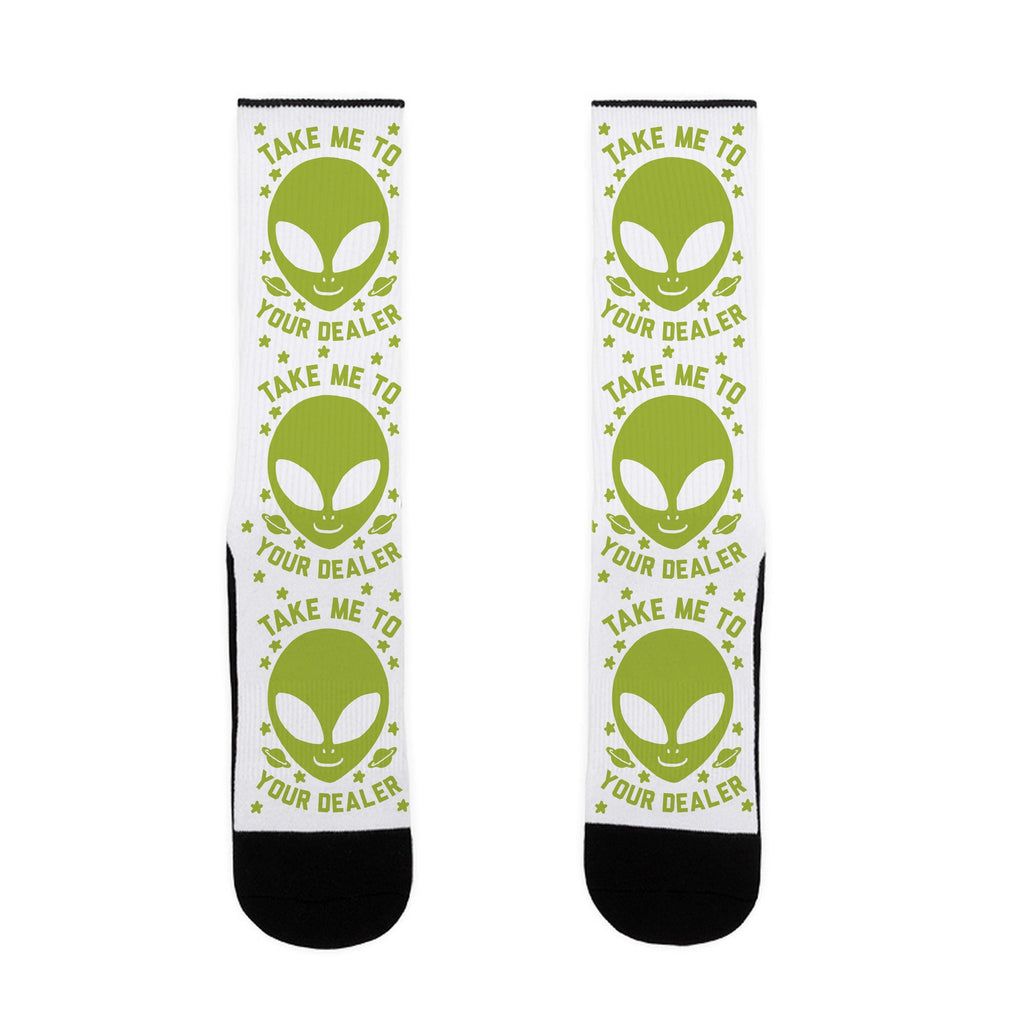 Take Me To Your Dealer US Size 7-13 Socks by LookHUMAN