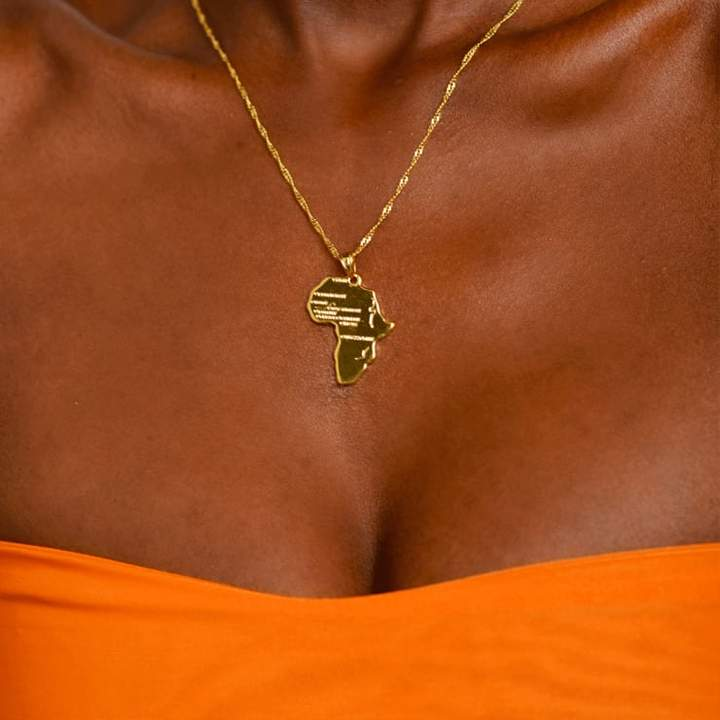 Africa Map Necklace - KIONII