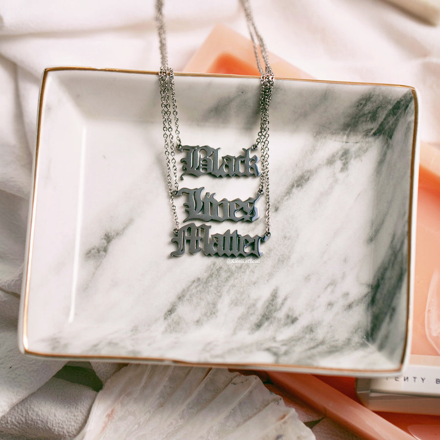 Black Lives Matter Necklace (Silver) - KIONII