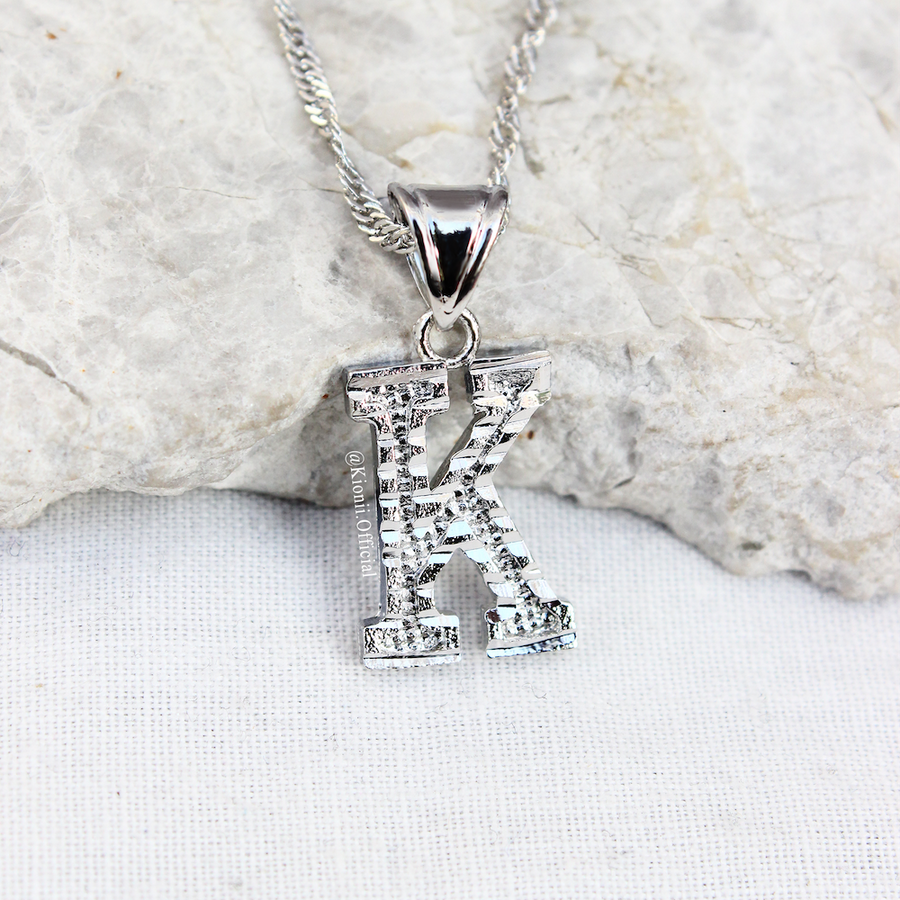 Initial Pendant Sterling Silver Necklace - KIONII