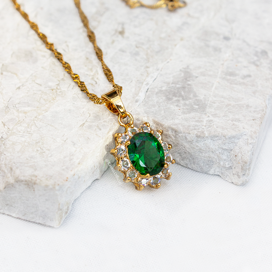 Lala Emerald Green Necklace - KIONII