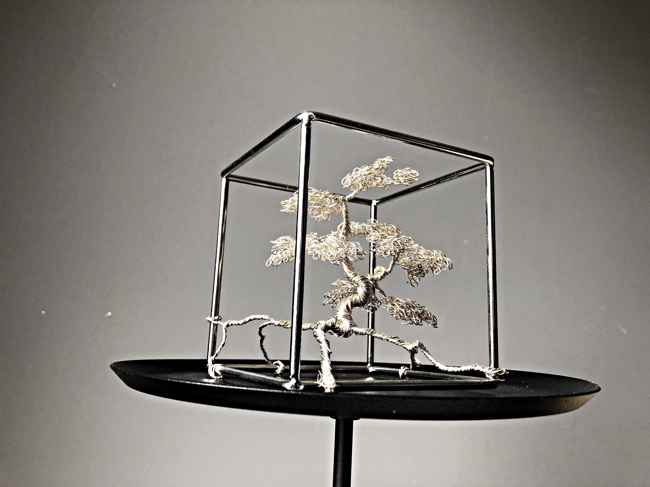 Silver Bonsai Sculpture