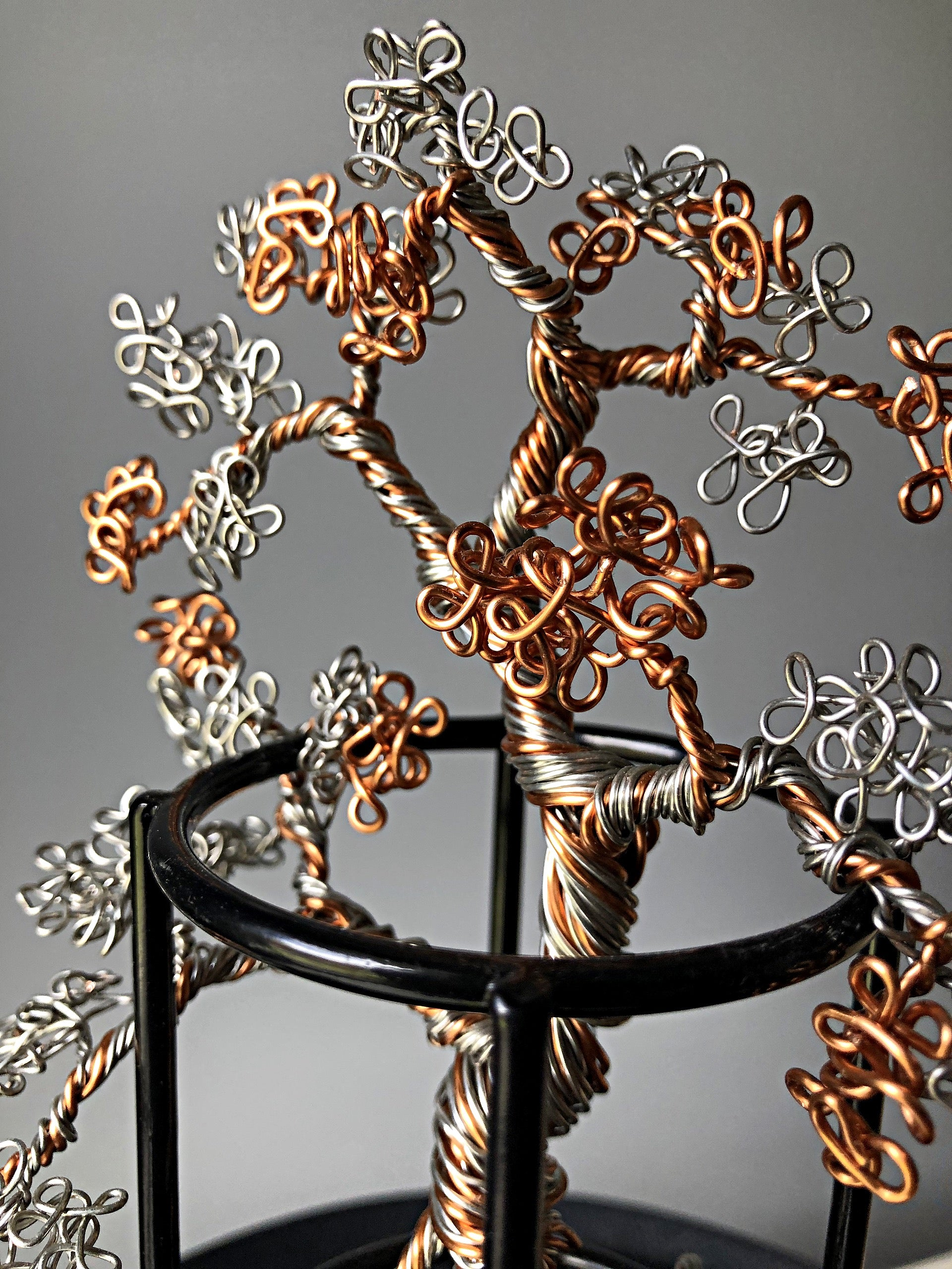 Copper & Silver Bonsai Sculpture
