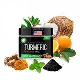 Turmeric + Charcoal Teeth Whitening - Dermomama