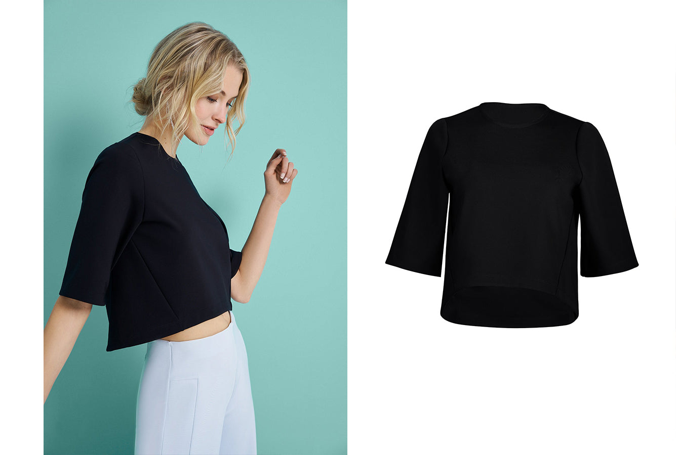 Performance Women's High-Low Crop Top