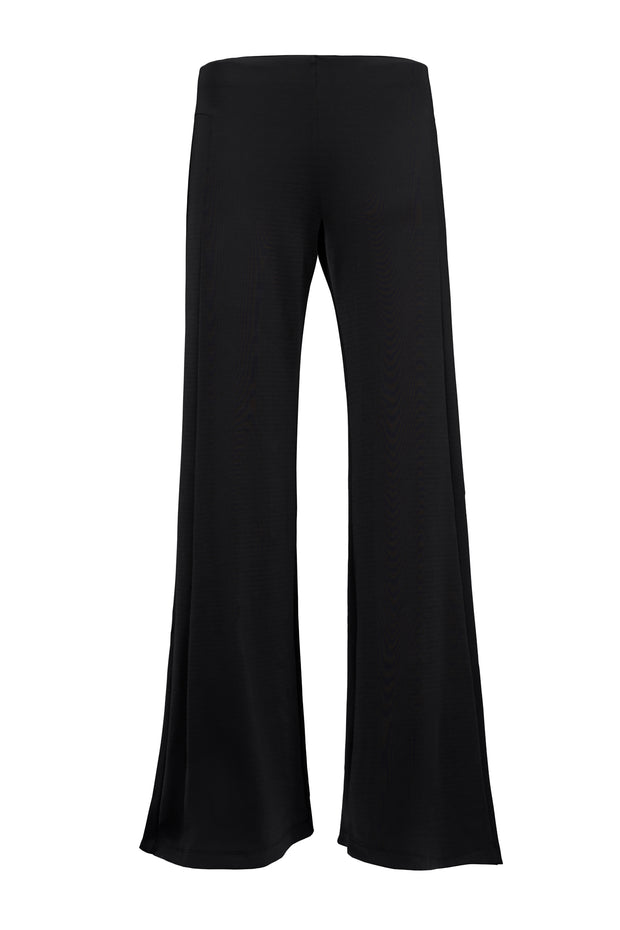 Black Performance Wide-Leg Pant