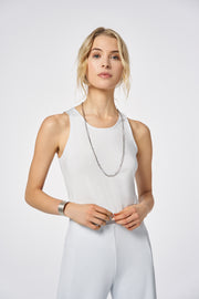 Cloud-dust Stripe Light Fit Tank