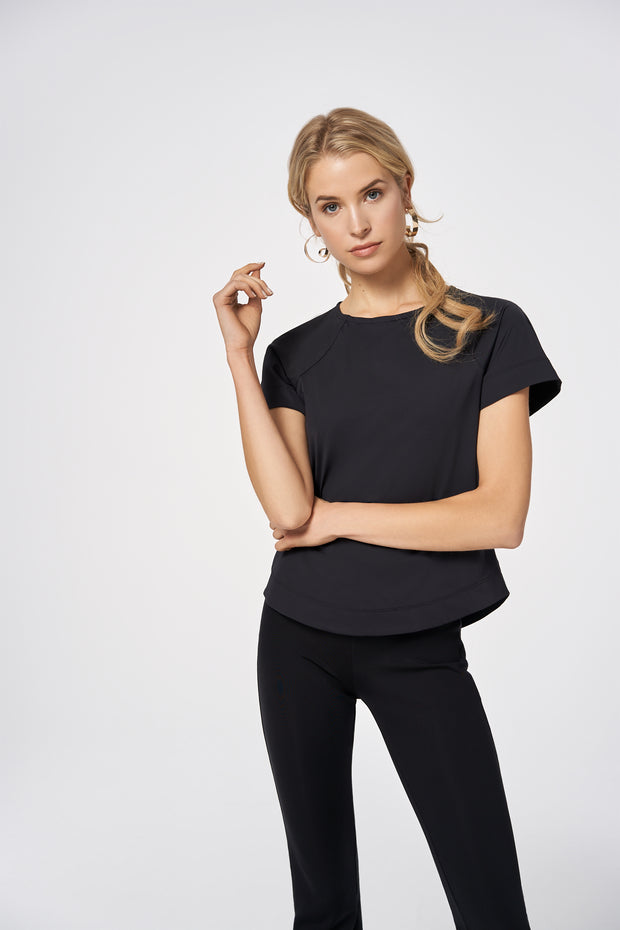 Black Slim Fit Top