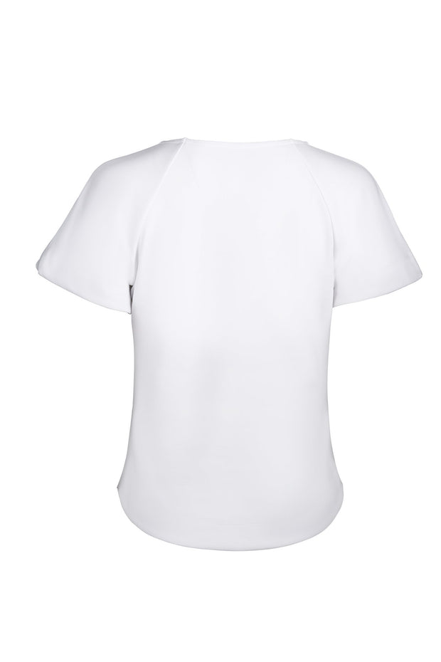 White Slim Fit Top